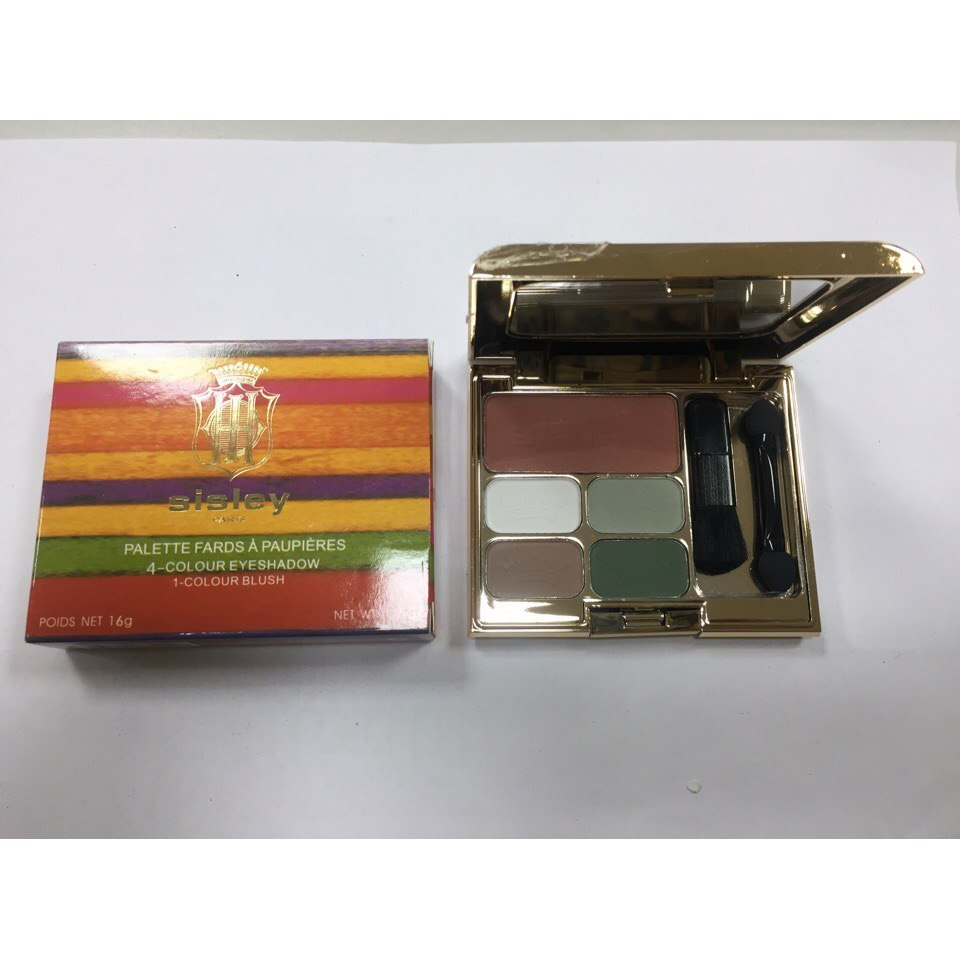 Тени для век + румяна Sisley 4-Colour Eyeshadow 1-Colour Blush 02
