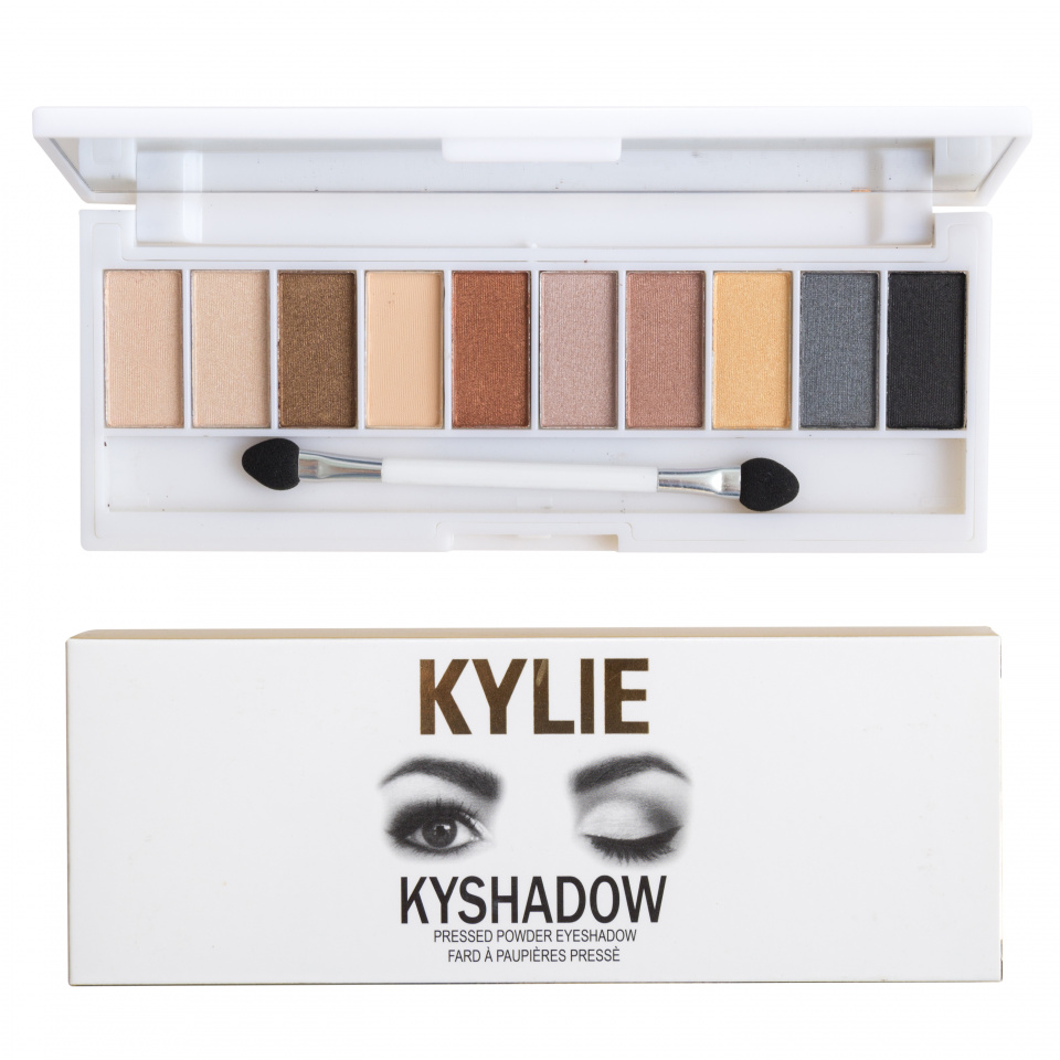 Палитра теней Kylie Kyshadow Pressed Powder Eyeshadow 10 оттенков 01
