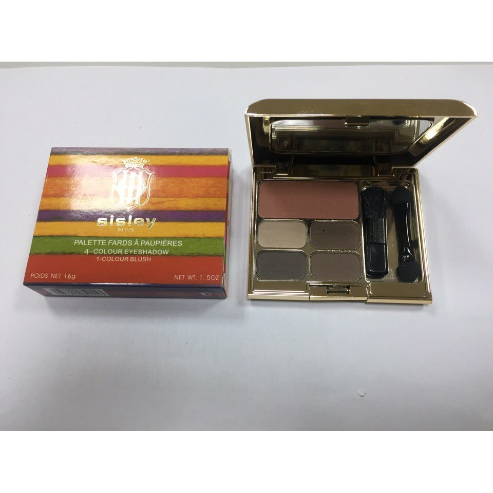 Тени для век + румяна Sisley 4-Colour Eyeshadow 1-Colour Blush 05