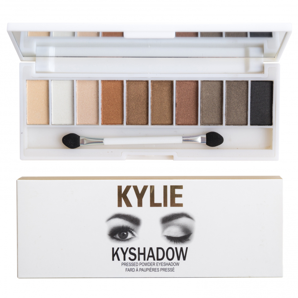 Палитра теней Kylie Kyshadow Pressed Powder Eyeshadow 10 оттенков 04