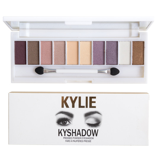 Палитра теней Kylie Kyshadow Pressed Powder Eyeshadow 10 оттенков 02