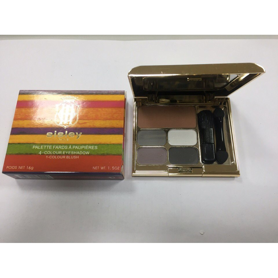 Тени для век + румяна Sisley 4-Colour Eyeshadow 1-Colour Blush 04
