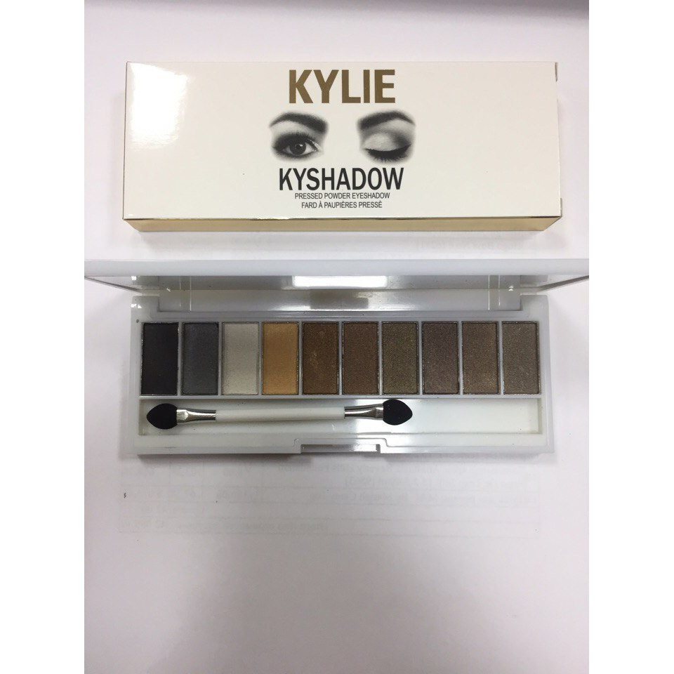 Палитра теней Kylie Kyshadow Pressed Powder Eyeshadow 10 оттенков 03