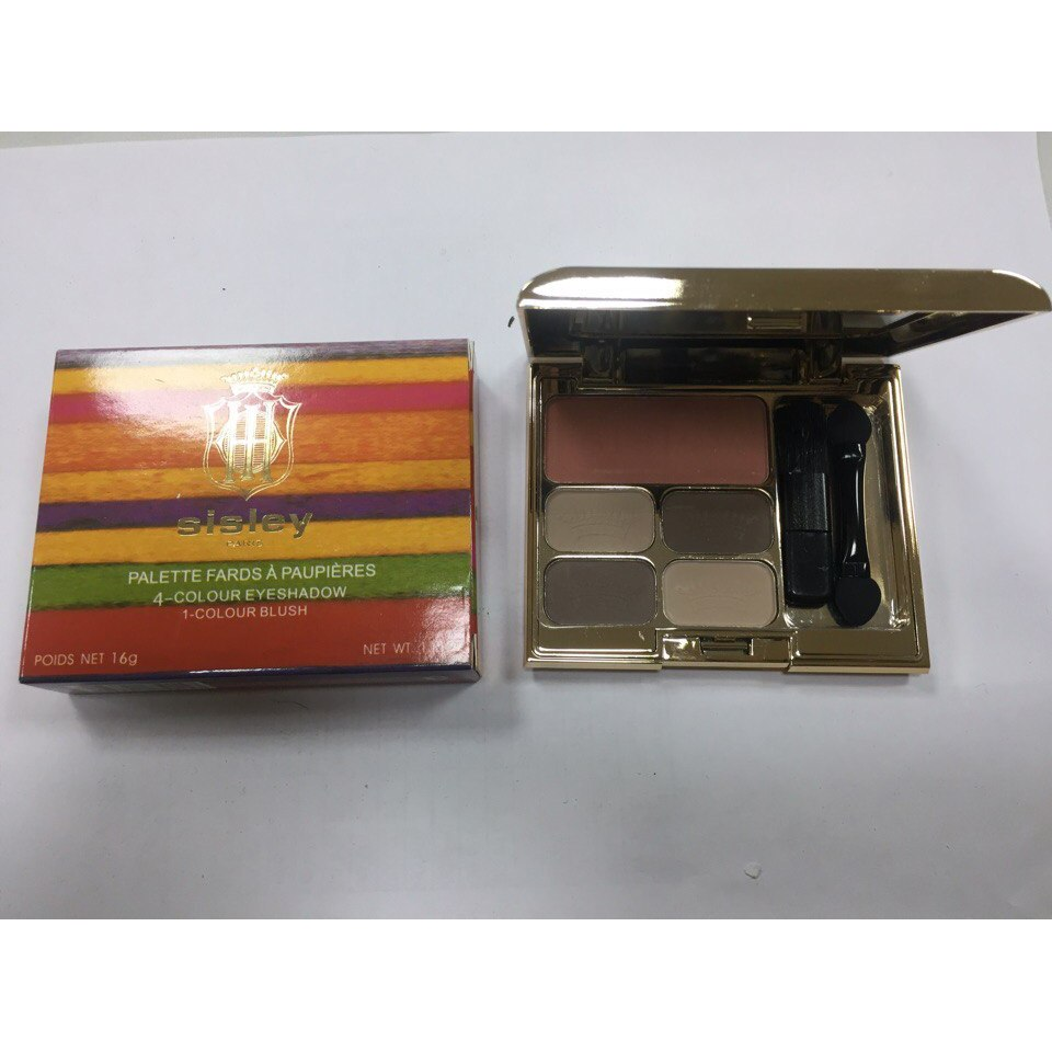 Тени для век + румяна Sisley 4-Colour Eyeshadow 1-Colour Blush 06